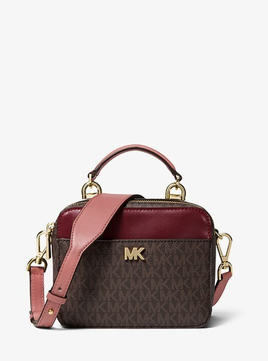 157612b617c994 Michael Kors Mott Mini Logo and Leather Crossbody, Luxury, Bags ...