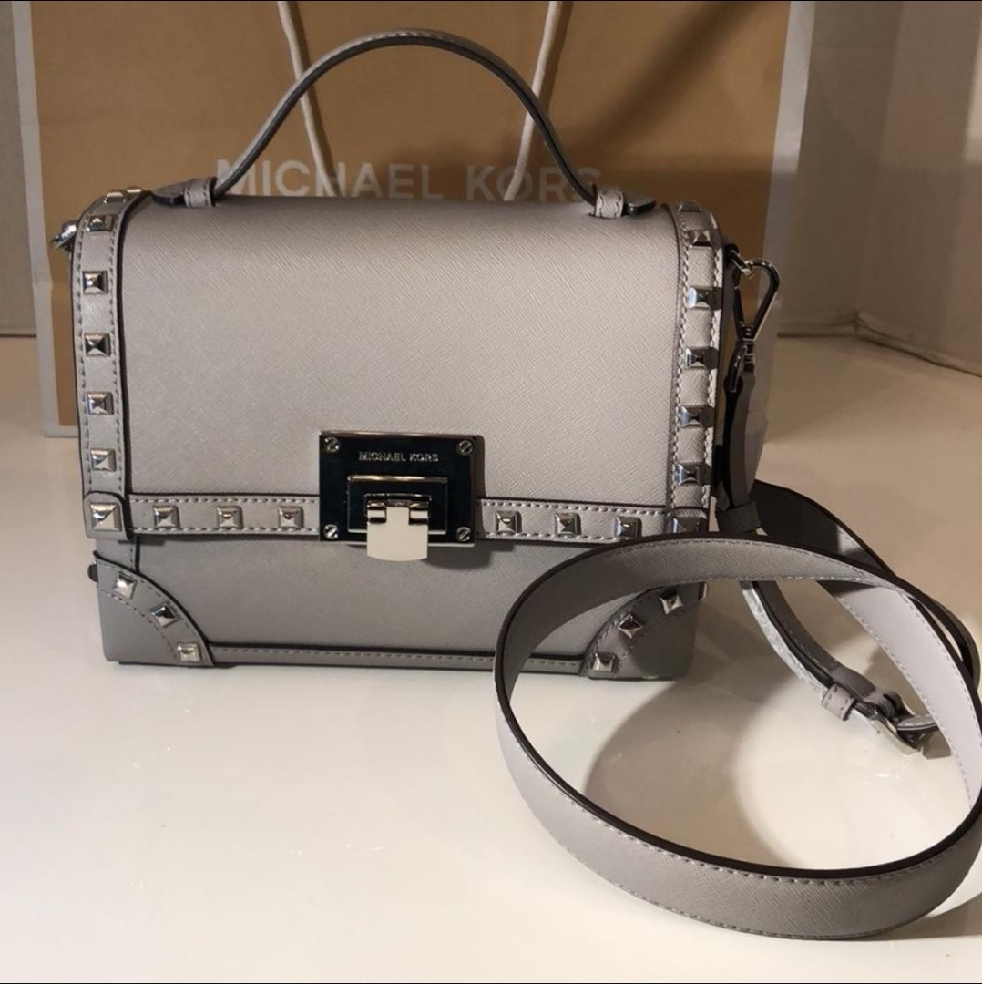 6e4caa20a38b Michael Kors Tina Ash Grey Shoulder Bag, Women's Fashion, Bags ...
