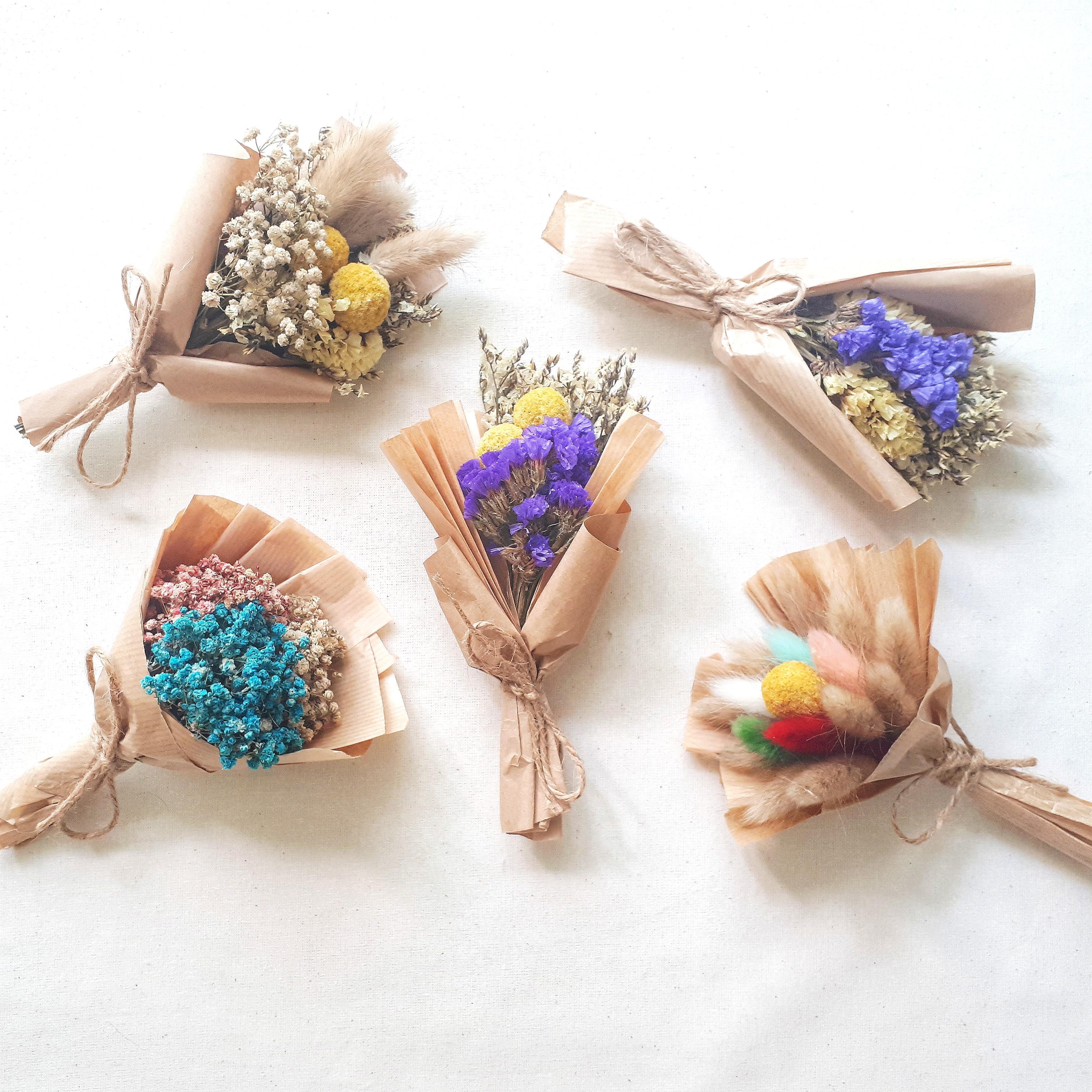 Mini Dried Flower Bouquet Wedding Favor Gardening Flowers Bouquets On Carousell
