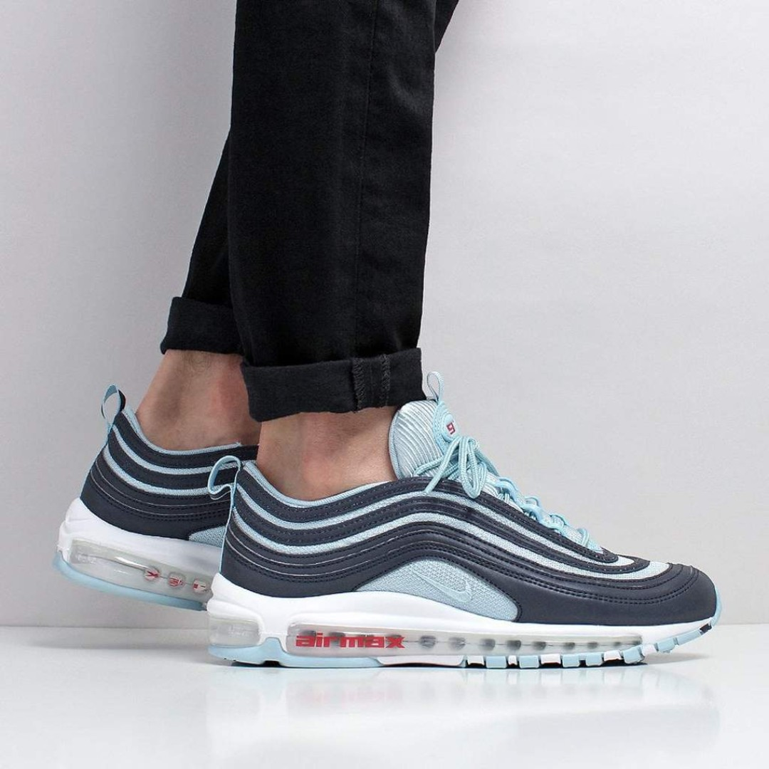 Nike Air Max 97 Premium Shoes – Dark Obsidian Ocean Bliss University ... d28a6933e