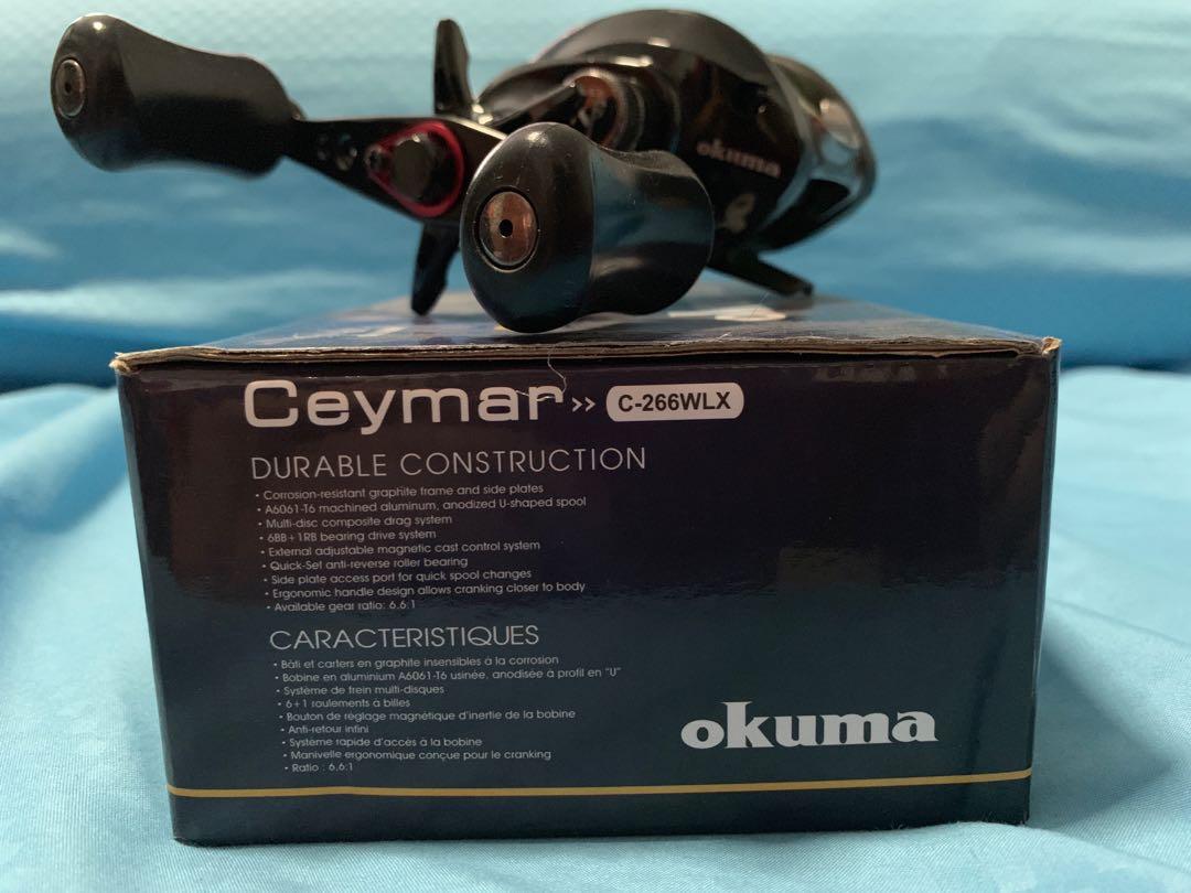 Okuma Ceymar Low Profile Baitcast Reel C-266WLX