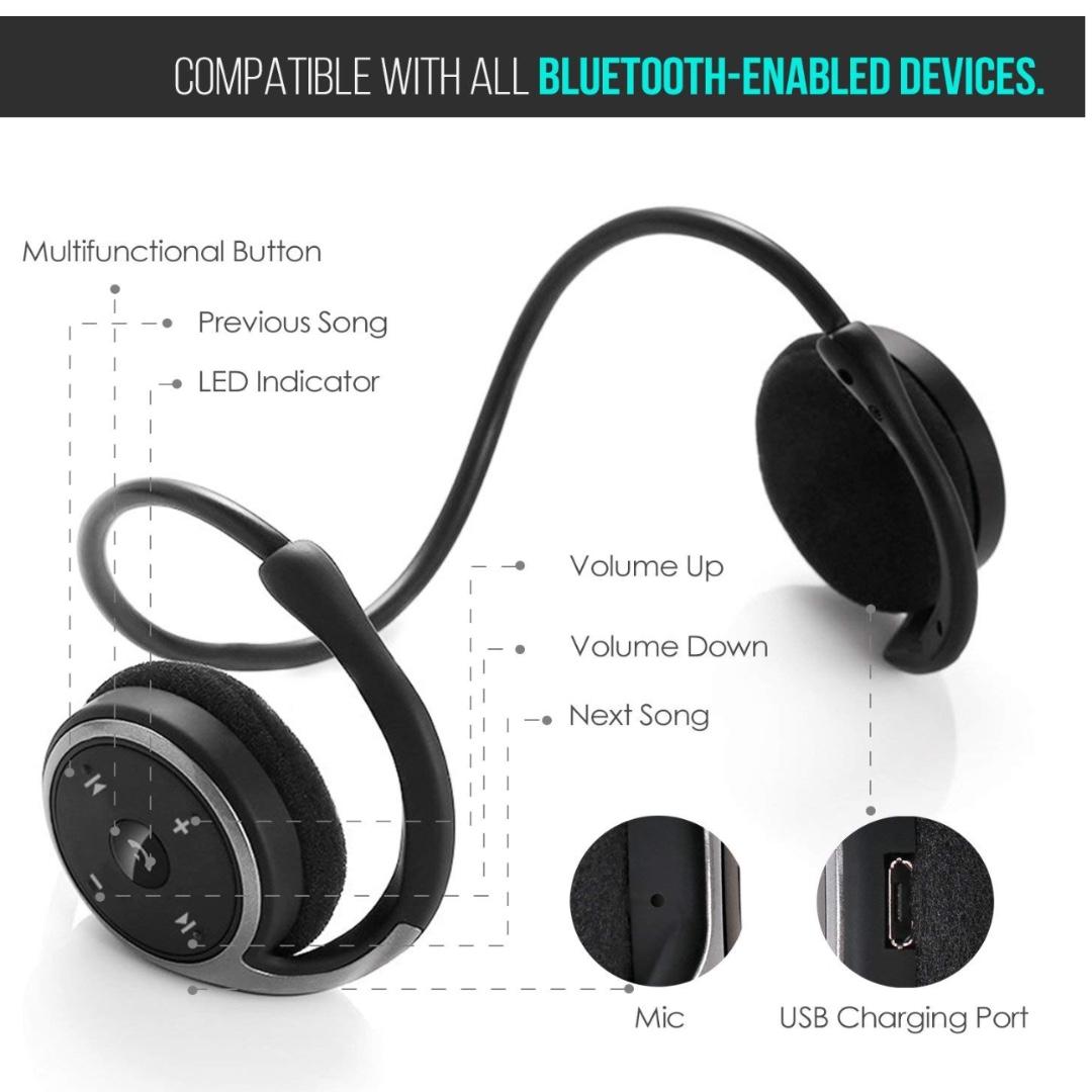 81110d4c2a9 p9 LinkWitz Marathon2 Sports Bluetooth Headphones - Wireless Earphones  Bluetooth 4.2 [2018 Upgraded] Black, Electronics, Others on Carousell