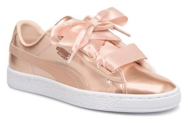 best website f16fa 74a10 Puma Basket Heart Rose Gold ✨, Women's Fashion, Shoes ...