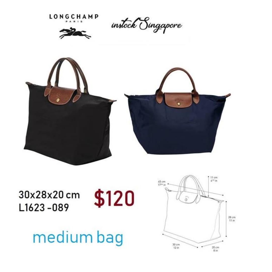 READY STOCK authentic new Longchamp LE PLIAGE medium short handle ... 34e02d77ba