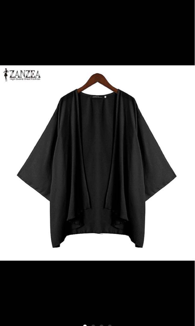 e4fba425e S-5XL UK8-24 Short Sleeve Women Kimono Cardigan, Women's Fashion ...