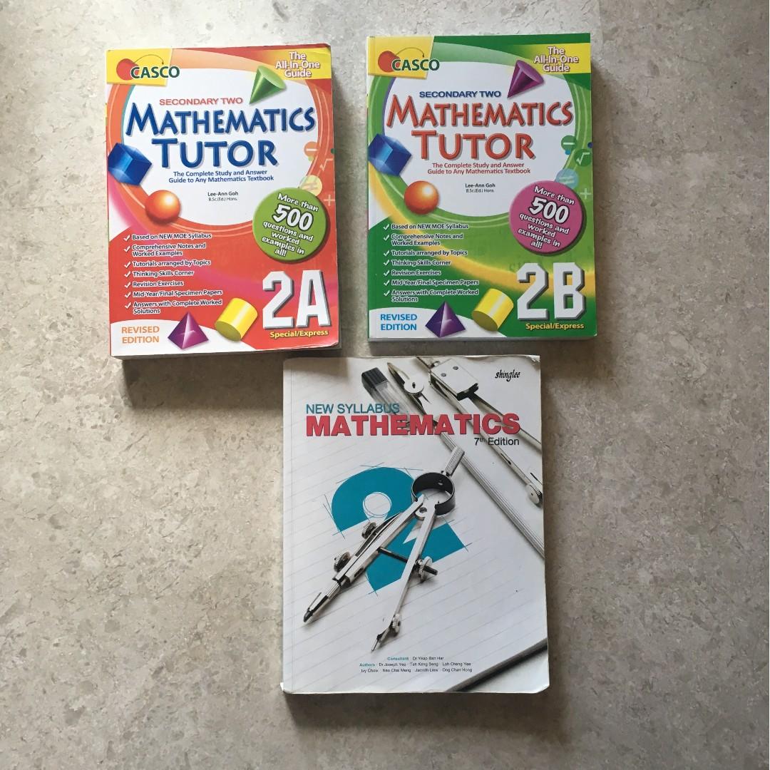 Secondary 2 Maths Textbooks