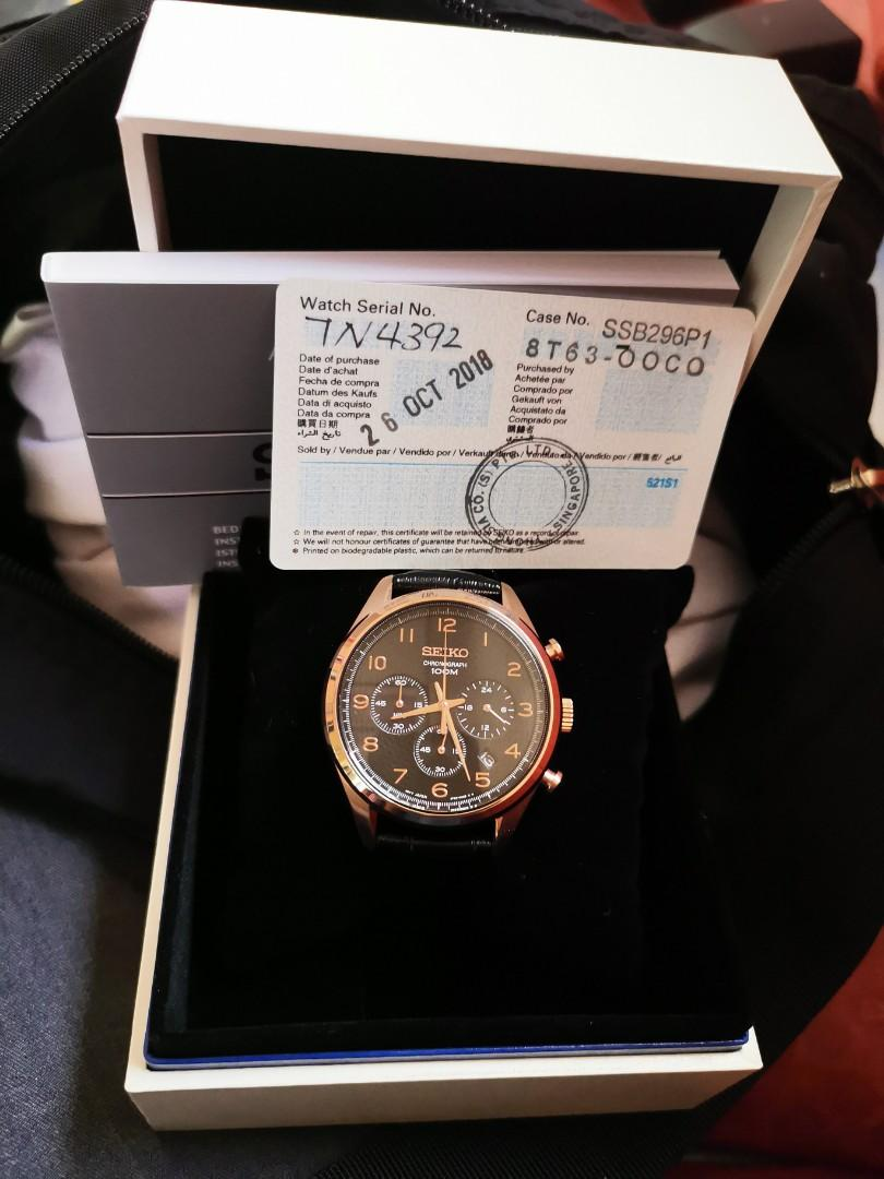 new product 9d3d8 7a37c Seiko chronograph quartz 8T63, Luxury, Watches on Carousell