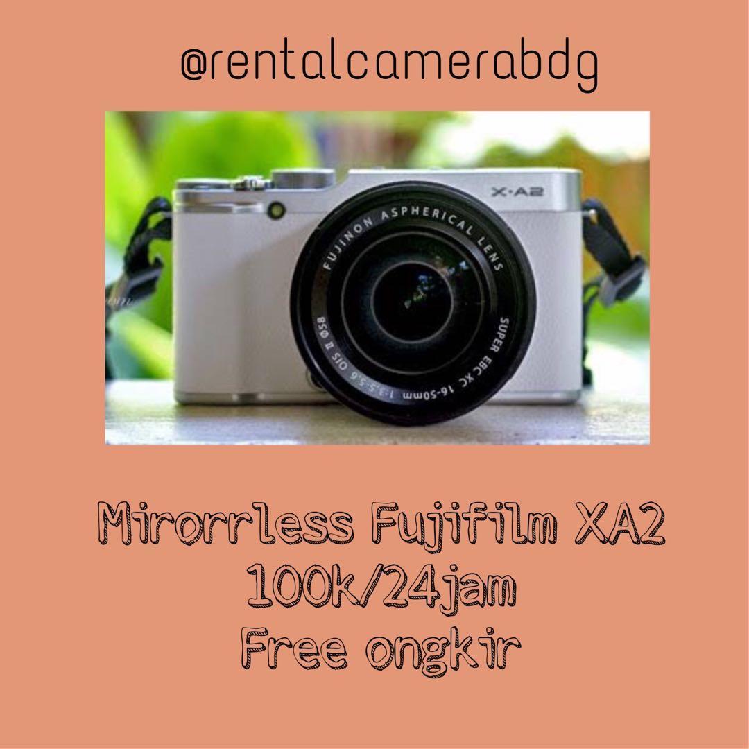 Sewa/rental kamera mirrorless fujifilm xa2