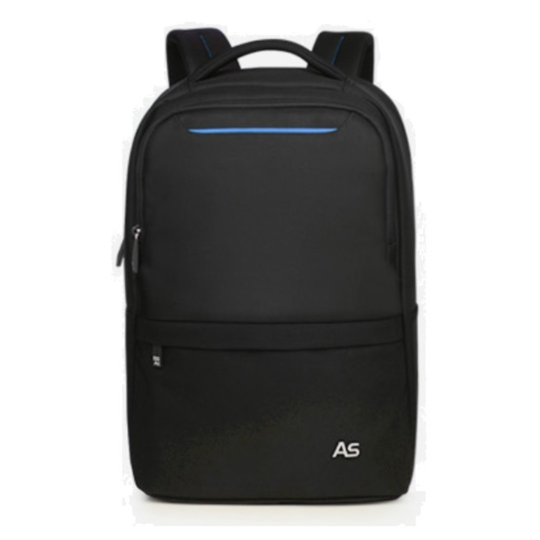 Slim travel laptop backpack (Black with blue) f77d47c6d13b7