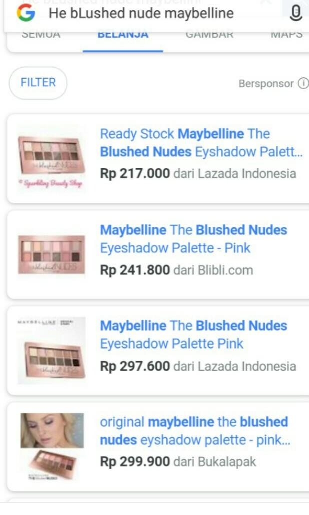The blushed nudes maybelline eyeshadow #letgocarousell