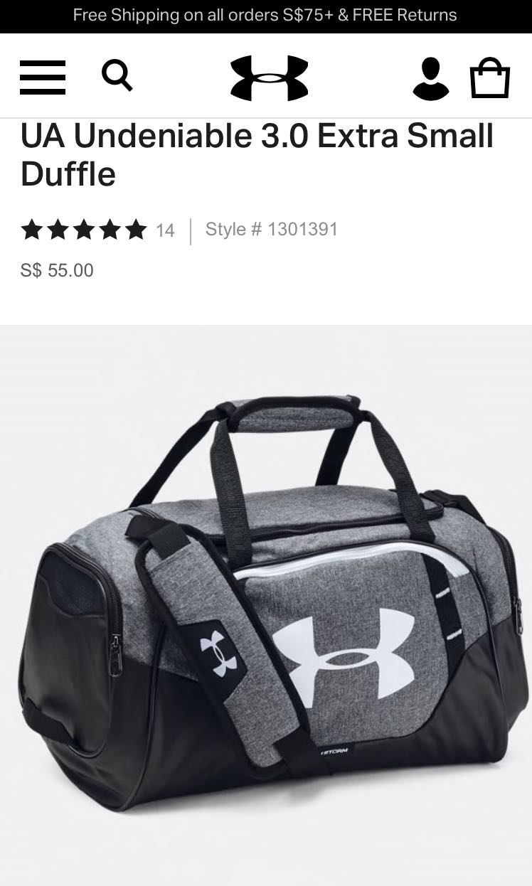 Under Armour Duffle Bag, Sports, Sports   Games Equipment on Carousell 22dd9b647d