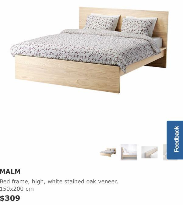 Used Ikea Malm Queen Bedframe Furniture Beds Mattresses On Carousell
