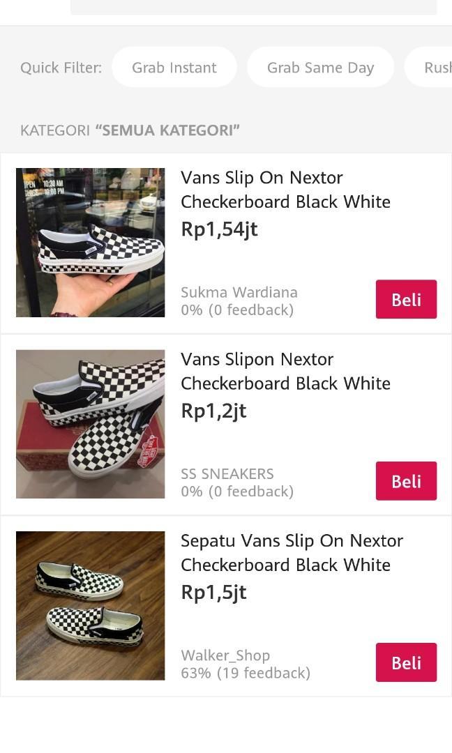 Vans checkerboard NEXTOR black white