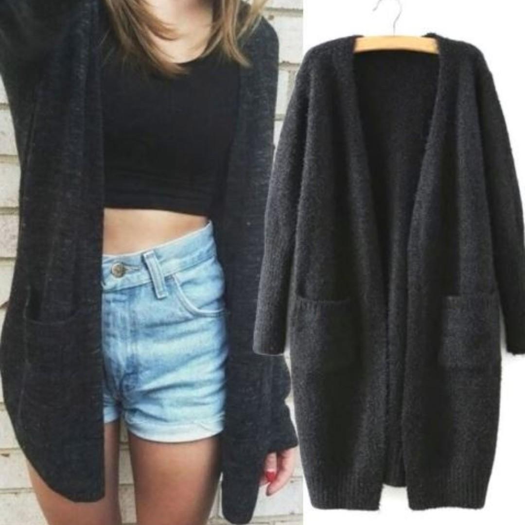 Women Oversized Loose Knitted Sweater Batwing Sleeve Tops Cardigan Outwear  Coat 335b874c4