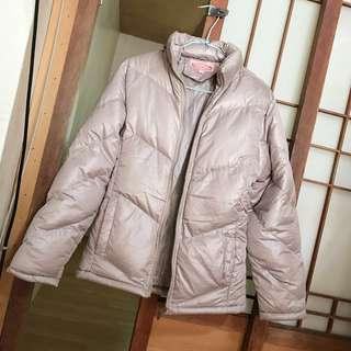🚚 秋冬裝加厚防風超保暖鋪棉拉鍊外套 淺香檳色