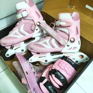 INSTOCK Pink Rollerblading Skates