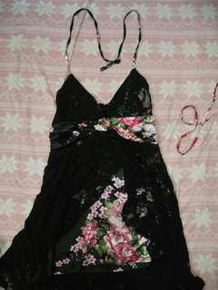 Cocktail dress with lace