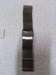 Shark mesh bracelet black 24mm
