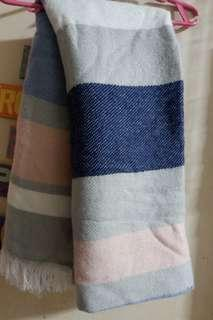 Forever 21 Large Scarf/Wraps in Blue-Pink
