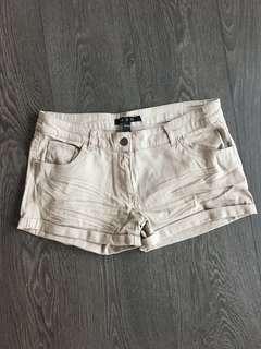 U2B Khaki Beige Shorts Size Medium (fits size 26/27)