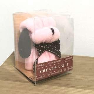 Small Pink Microfiber Towel Dog Fancy Fold