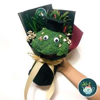 Broccoli Graduation Bouquet