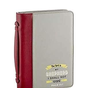 ~READY STOCK~ BN Faithworks Bible Book Cover, the Lord Is My Shepherd Psalm 23:1 (ZIP COVER ONLY, BIBLE NOT INCLUDED)