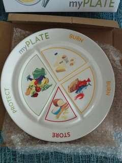 Ageloc  TR90 eating plate/ diet plan plate