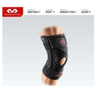 美國 MC DAVID 膝關節韌帶專用護膝 Knee Support w/Stays & Cross Straps
