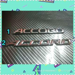 Accord emblem for honda accord (one piece)