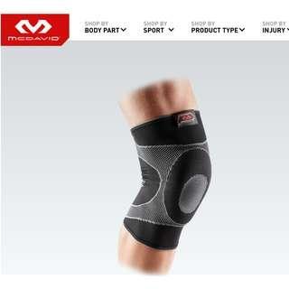 美國 MC DAVID 凝膠彈性護膝(肌肉拉傷/韌帶扭傷者適用) Knee Sleeve/4-Way Elastic w/Gel Buttress