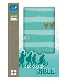 ~READY STOCK~ BN NIV, Backpack Bible, Compact, Flexcover, Gorgeous Turquoise / Gold Glitter Accents