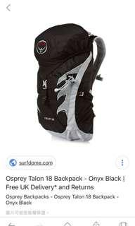 Osprey Talon 18 Back -Onyx Black(全新未用)