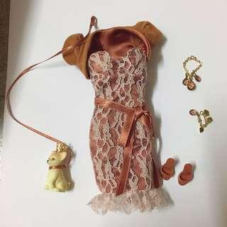 Barbie Birthstone November Clothes set ( complete set with acc )