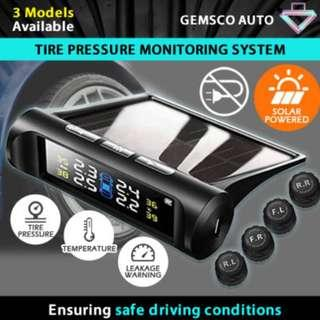 TPMS Solar Power Wireless Tire Pressure Monitoring System Car Alarm System with 4 External Sensors