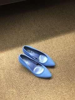 New Blue Kitten Heels