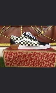 Vans Old Skool Checkerboard Gum Block