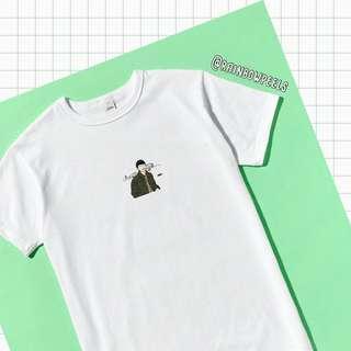 PO | korean oppa green jacket tumblr tee ulzzang tshirt