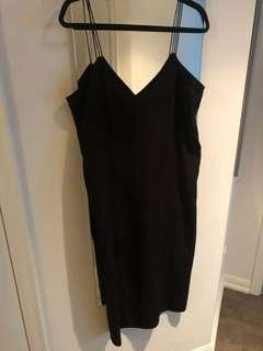 Oak and fort long black dress