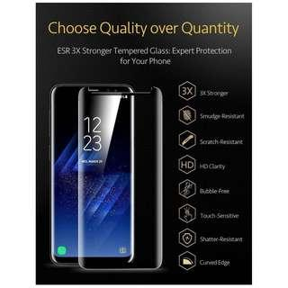 Samsung S9 S8 + Note Screen Protector Tempered Glass Curve