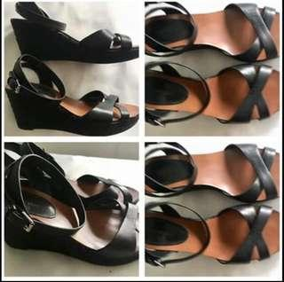 Country Road NEW Wedges Size 7.5  Black