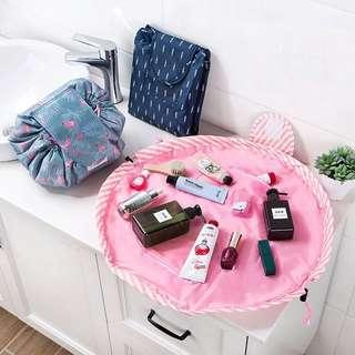 Women drawstring cosmetic make up pouch