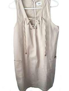 Whitchery White Denim Dress Size 12-14