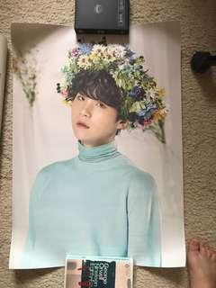 BTS BANGTAN BOYS OFFICIAL LOVE YOURSELF TOUR POSTER KPOP YOONGI SUGA