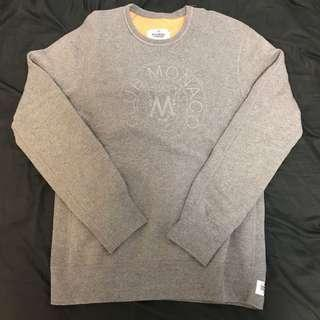 Club Monaco x Reigning Champ Logo Crew Neck Sweater xs