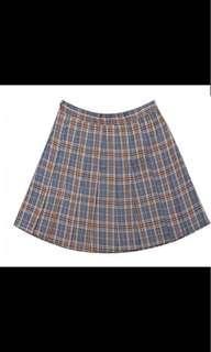 Plaid tennis school skirt