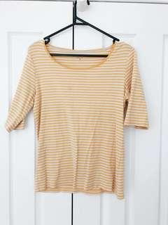yellow stripy top