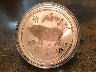 澳洲豬年銀幣