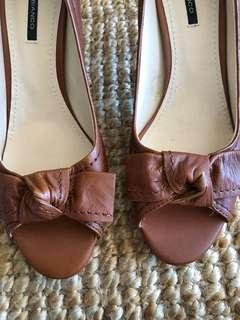 Tony Bianco brown heels, size Aus 8.5