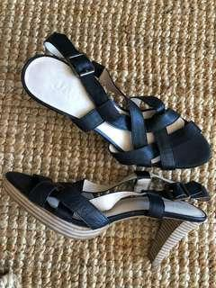 JAG black sandals, heels, new in size Aus 8.5
